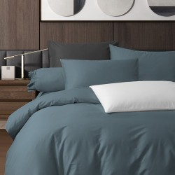 King Koil Colour Palette Fitted Sheet Set SC01002 (Silver Blue)