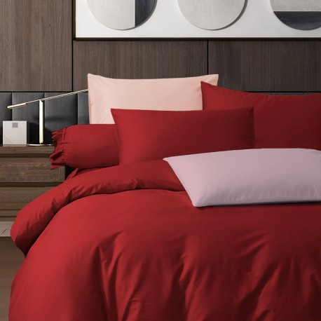 King Koil Colour Palette Fitted Sheet Set SC01004 (True Red)