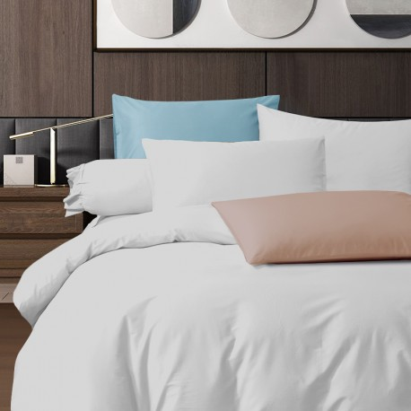 King Koil Colour Palette Fitted Sheet Set SC01005 (White)