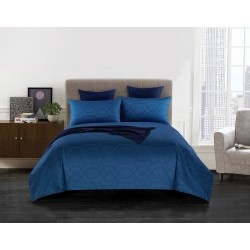 King Koil Hotel Galleria Homme Jacquard Fitted Sheet HT03304 Navy