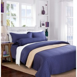 DORMA LORETTA TENCEL JAC FITTED SHEET -  90002 (BLUE INDIGO)