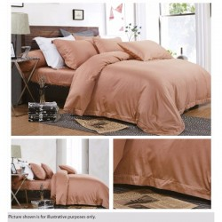 KING KOIL ETERNAL COSIEST FITTED SHEET SET - ET02806 (LT BROWN)
