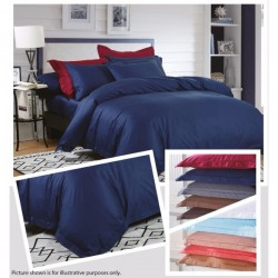 KING KOIL ETERNAL COSIEST FITTED SHEET SET - ET02809 (NAVY BLUE)