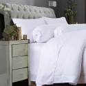 DORMA 100% UltraFine Plain-Dyed Cotton Sateen Fitted Sheet Set - 90601