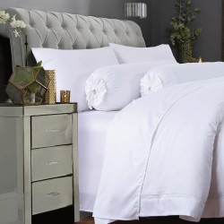 DORMA 100% UltraFine Plain-Dyed Cotton Sateen Duvet Cover - 90601